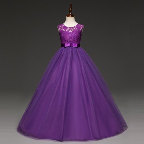 purple, girls dress, tulle, tullepartydre