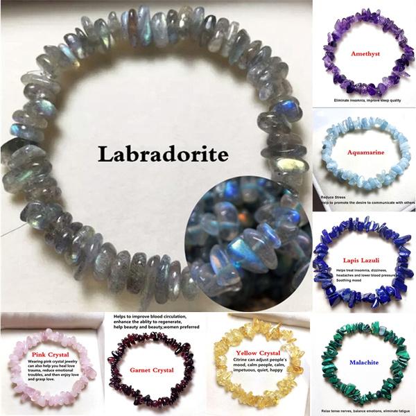 Crystal Bracelet, chipsbeadsbracelet, Jewelry, Gifts