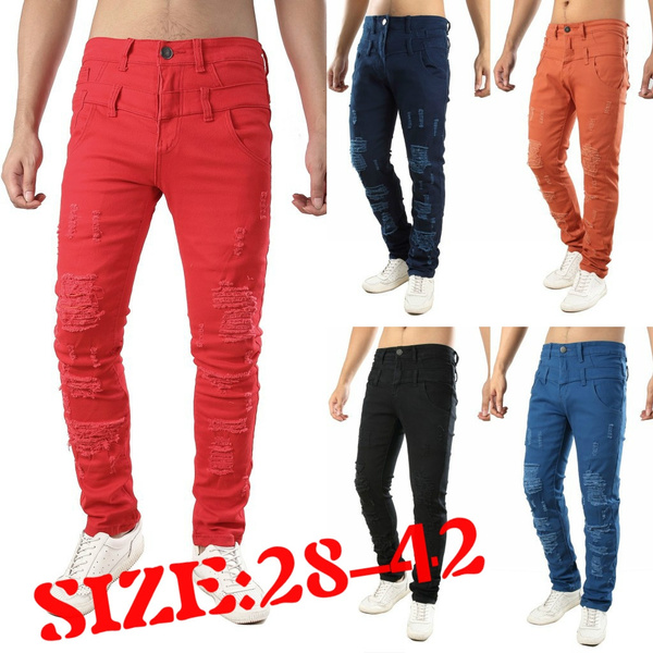 men jeans, Fashion, Waist, Elastic