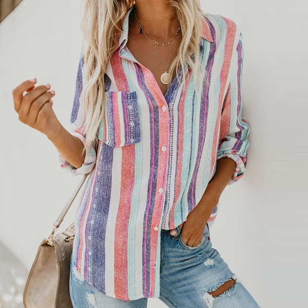 blouse, rainbow, cardigan, Shirt