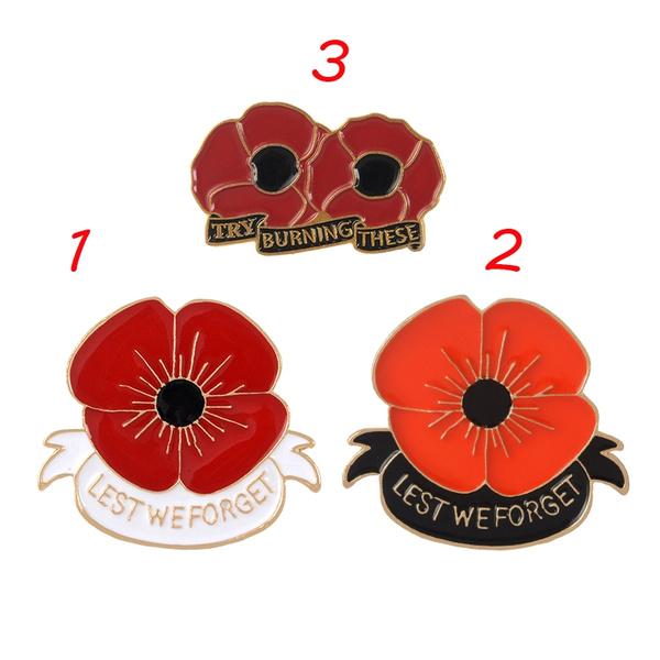 memorialveteransday, allgavesome, Pins, poppyenamelpin