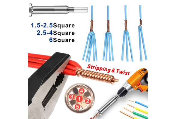 Wire Stripper and Twister 2 Wire Terminals Power Tools for Stripping and Twisting Wire Cable Wire Twisting Tools