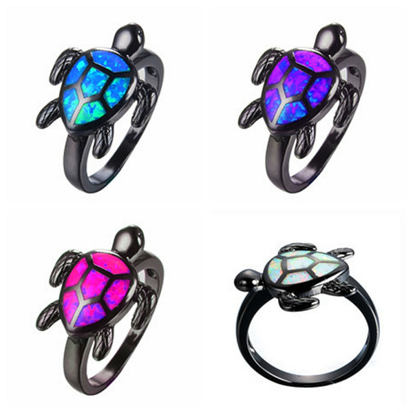 fireopalring, Turtle, turtleshapeopalring, Fashion