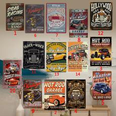 Unique, hotrod, garagetinsign, walldecoration
