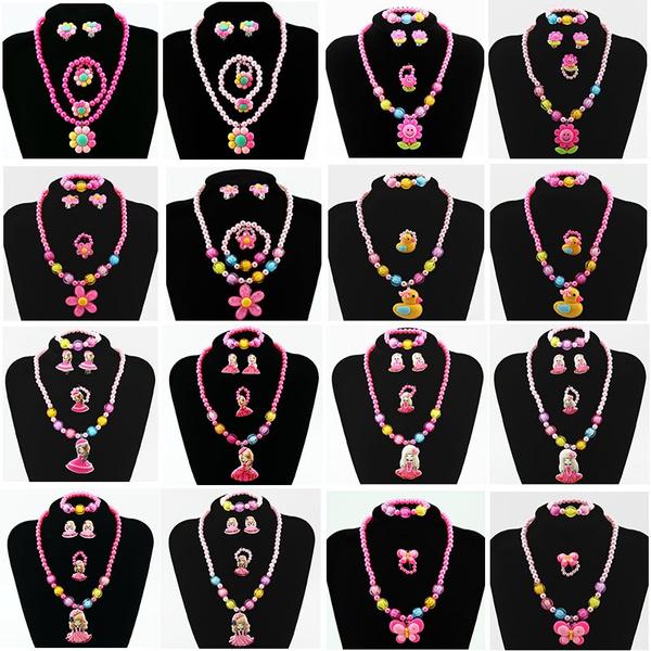 fourpiecesjewelry, childrenjewelryset, Plastic, Jewelry