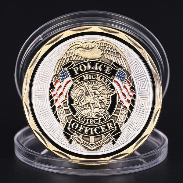 Police, challengeartcoin, stmichael, officer