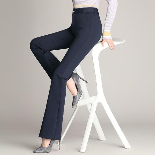 Plus Size, high waist, womenfashionelasticitytrouser, pants