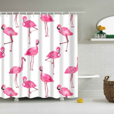 pink, Polyester, flamingo, bathroomdecor
