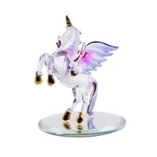 golden, unicornfigurine, Glass, handcraft