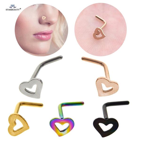 Steel, Heart, Jewelry, cartilage earrings