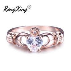 claddaghring, Heart, Rose Gold Ring, crownring