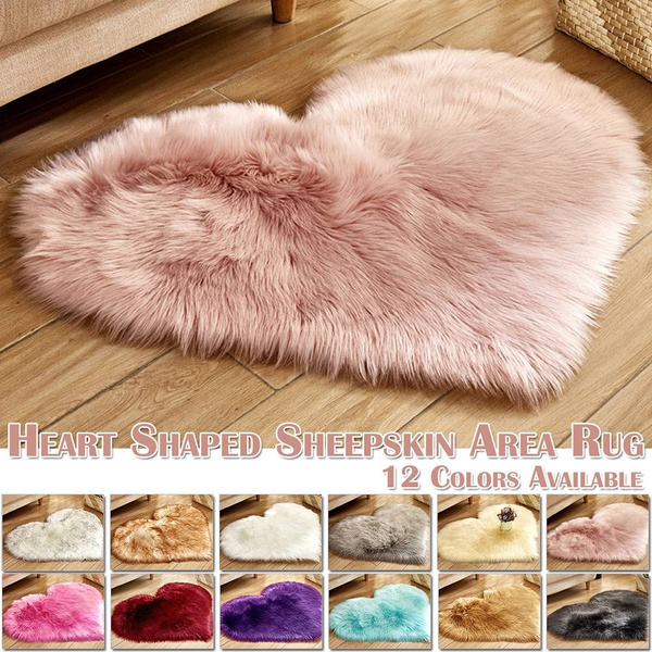 sheepskinrug, Heart, Decor, softcarpet