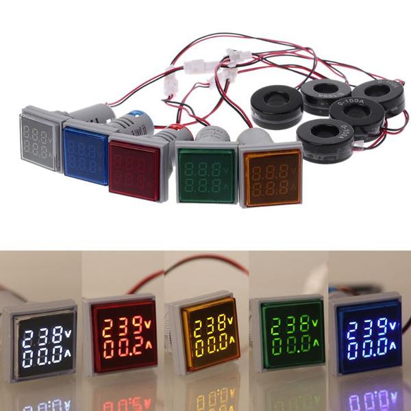 leddigitalvoltmeter, voltagegauge, led, dualdisplayvoltmeter