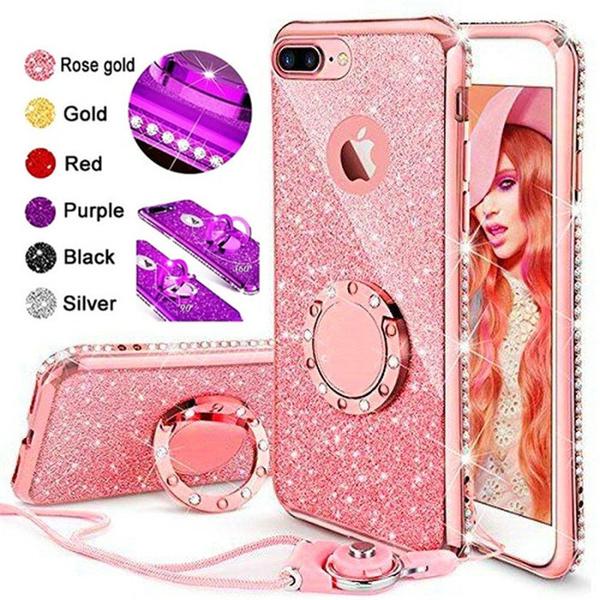 cute, DIAMOND, Apple, iphone 6 plus case