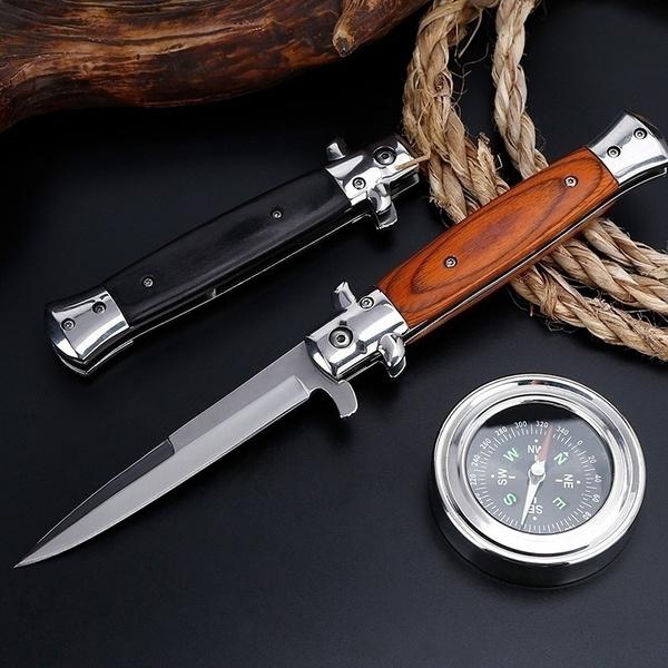 campingknifefolding, Wood, pocketknife, Outdoor