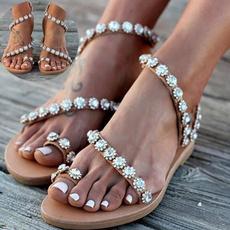 Vintage, Sandals, Women Sandals, leather
