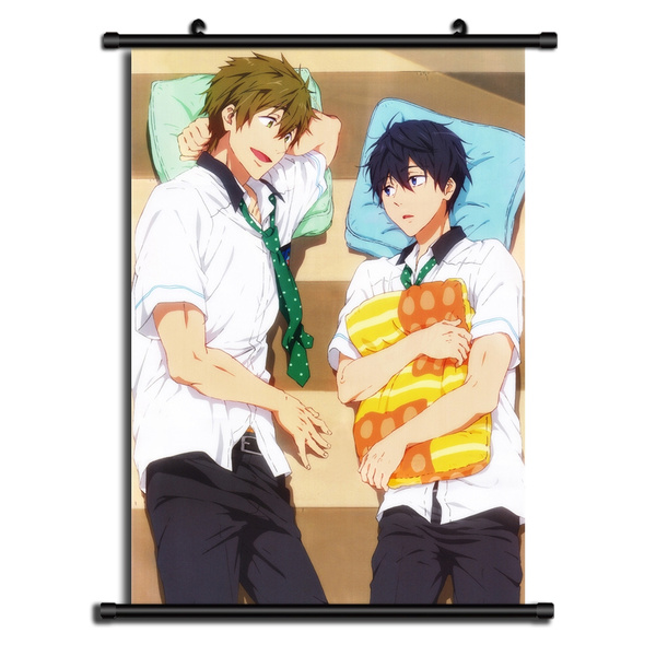 Iwatobi Swim club HD Print Anime Wall Poster Scroll Room Decor Free