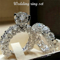 Beautiful, Silver Jewelry, DIAMOND, wedding ring