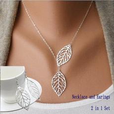 goldplatedwomensearbob, necklaceearingset, Fashion, Jewelry