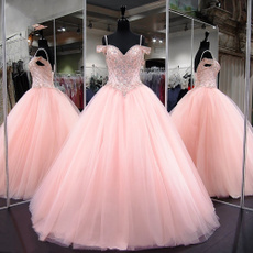 pink, gowns, sweetheart, promgown