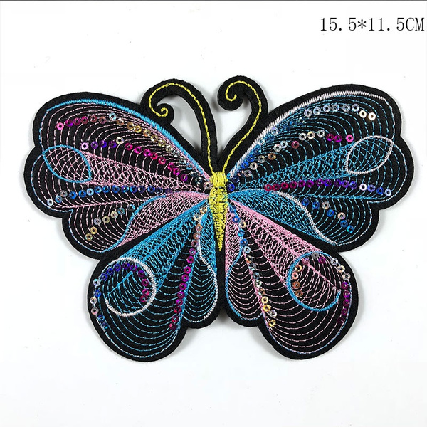 butterfly, patchesforjean, Iron, sequinbutterflypatch