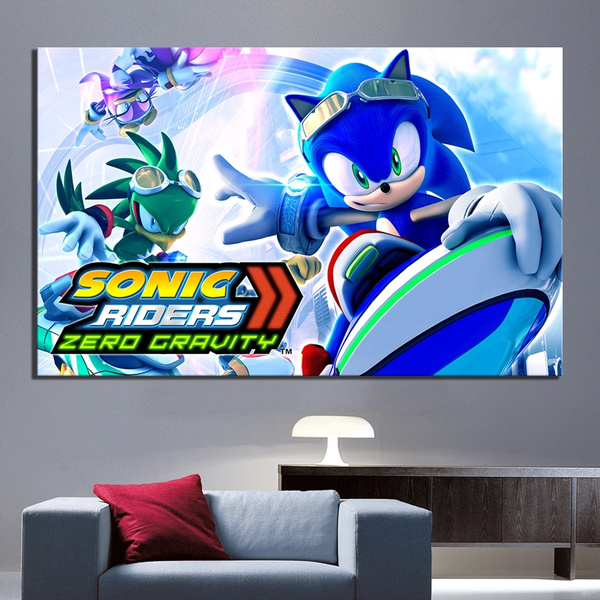 1 Piece Sonic Riders Zero Gravity Game Poster Artwork Canvas Painting For Home Decor Wall Art No Frame Wish
