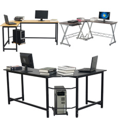 cornercomputerdesk, lshapeddesk, Office, Home & Living