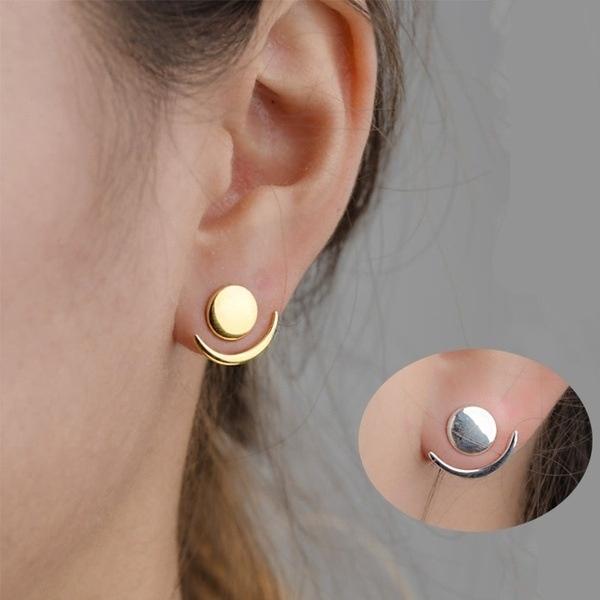 moonearring, Fashion, Jewelry, gold
