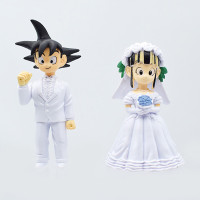 Dragon Ball Z Dbz Son Goku Gokou Chichi Figure Toys Wedding Cake Topper Gifts Wish