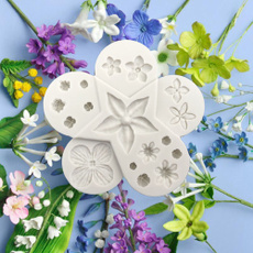 Flowers, fondantmold, chocolatemold, Silicone