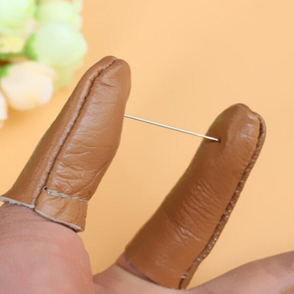 leatherthimble, fingerthimble, leather, Sewing Notions & Tools