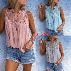 blouse, Summer, Chiffon Shirt, Tank