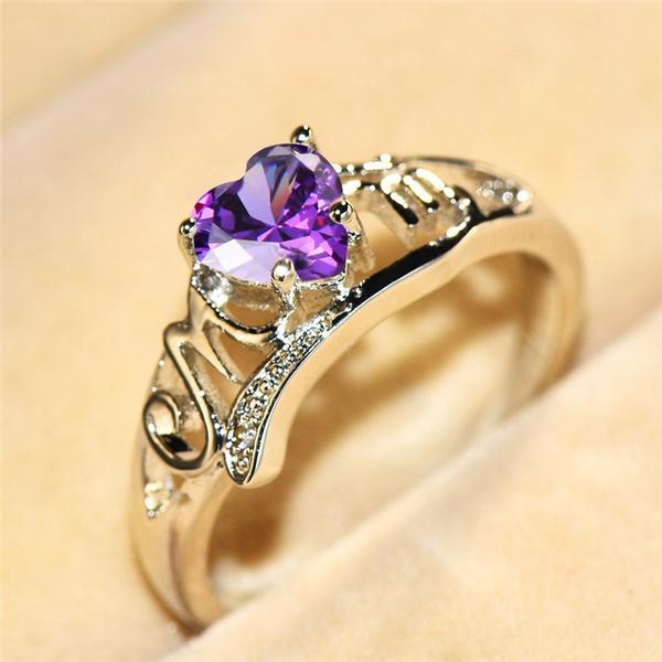 Heart, Love, Jewelry, 925 silver rings
