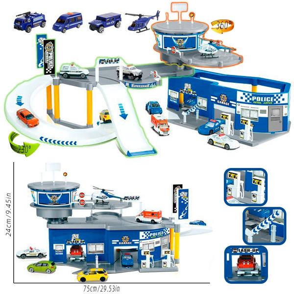 Police Car Parking Lot Toys, Parking Garage Toys