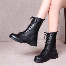 Woman, Winter, leather, punk