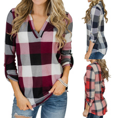 blouse, plaid shirt, Fashion, long sleeve blouse