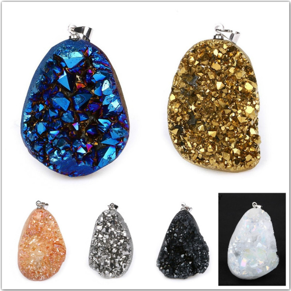 crystal pendant, Jewelry, druzycrystal, Crystal
