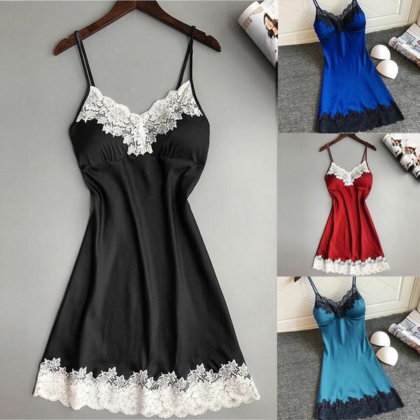 night dress, Underwear, Sleepwear, sleevelesslingerie