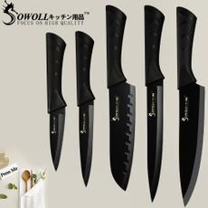 blackstainlesssteelkitchenknive, chefstainlesssteelkitchenknive, Kitchen & Dining, Stainless Steel