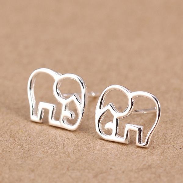 elephantearring, trendstudearring, simpleearring, Gifts