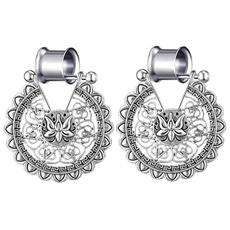 gaugeearring, Dangle Earring, earexpander, Crystal