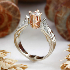 Fashion, wedding ring, gold, sterling silver