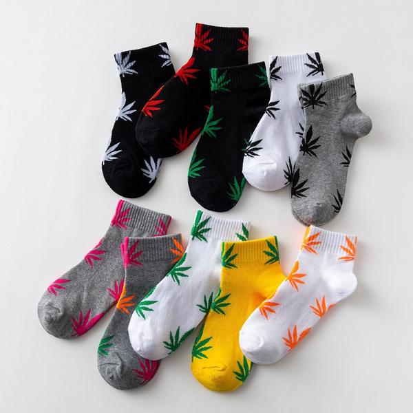 Cotton Socks, leaf, mapleleafsock, unisex