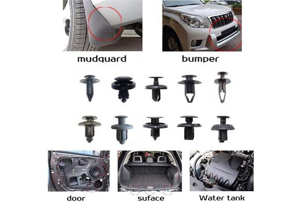 100 Pcs Trunk Screw Rivets Set Car Bumper Fender For Auto Plastic Fastener Clips