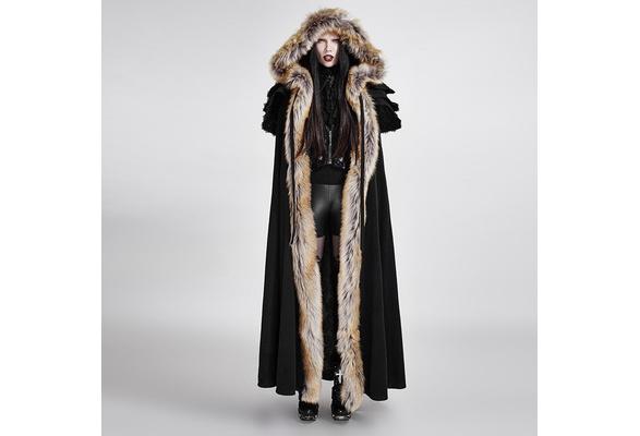 Details about  /Punk Rave Gothic Novelty Winter Men palace Jacket Cape,Wool callor long cloak