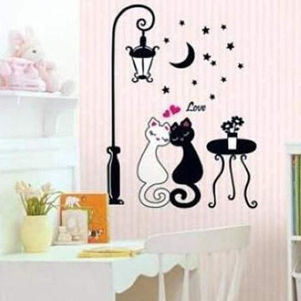 couplecat, livingroomdecorationsticker, Fashion, art