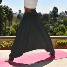 harem, elastic waist, Yoga, hippie