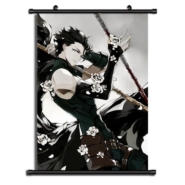 animescroll, canvas paintig, Decor, Wall Art
