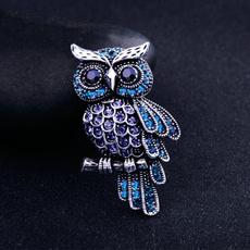 Blues, Owl, Women Brooch, brooches