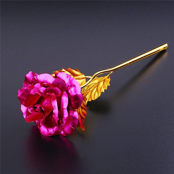 goldplated, Valentines Gifts, loverrose, 24kgoldfoilrose